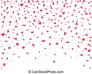 corazón, flor, heart., regalo, valentines, color, pétalo,...