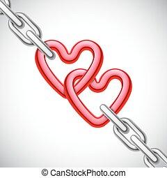 corazón formó, cadena