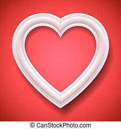 corazón formó, marco