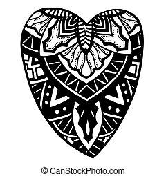 corazón formó, patrón