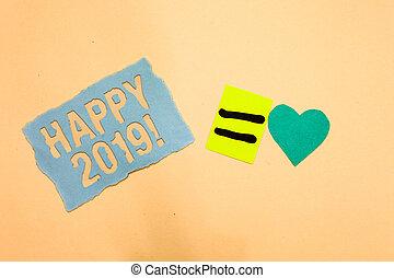 corazón, foto, comenzar, papel, año, calendario, azul, escritura, nota, nuevo, recordatorio, 2019., feliz, turquesa, empresa / negocio, actuación, ideas., ahora, día, transmitir, romántico, tiempo, showcasing, o