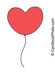 corazón, globo