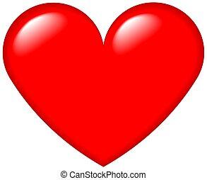 corazón, gráfico, 4