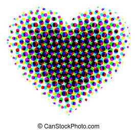 corazón, halftone