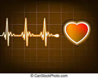 corazón, heart., golpe, gráfico, eps, 8