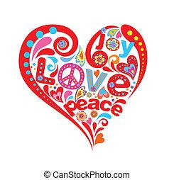 corazón, hippie