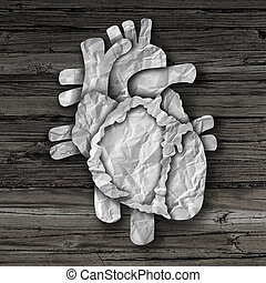 corazón humano, órgano, concepto