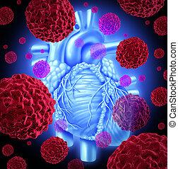 corazón, humano, cáncer