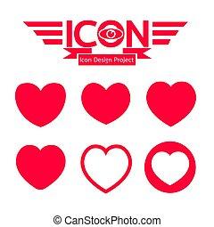 corazón, icono