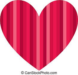 corazón, ilustración, vector