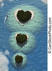 corazón, islas