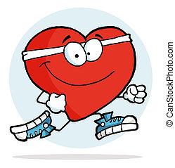 corazón, jogging