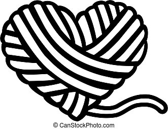 corazón, lana, pelota