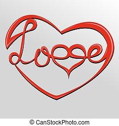 corazón, letras, amor