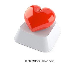 corazón, llave computadora