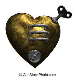 corazón, metal
