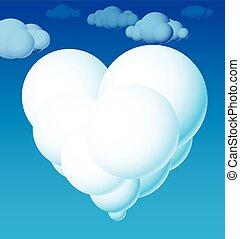 corazón, nube