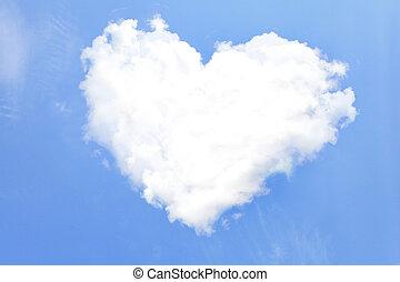 corazón, nubes, amor