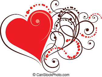corazón, ornamental