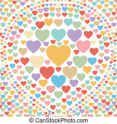 corazón, pastel, resumen, bac, seamless
