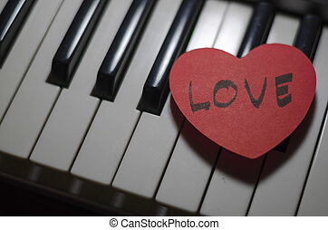 corazón, piano