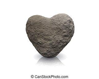 corazón, piedra