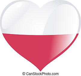 corazón, polonia