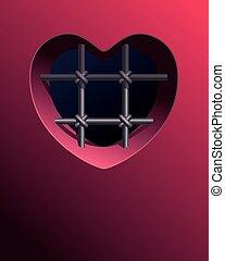 corazón, prisión