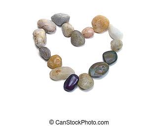 corazón, rocas