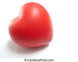 corazón rojo, blanco