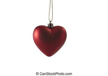 corazón rojo, día de valentines