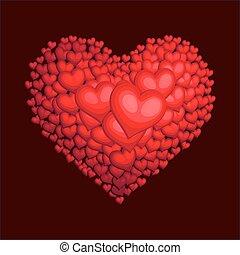 corazón, rojo