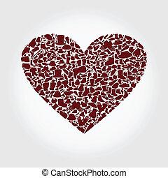corazón, ropa