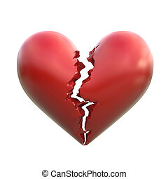 corazón roto, 3d