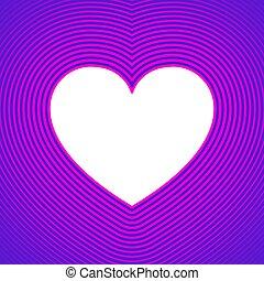 corazón, símbolo, plano de fondo, líneas, compensación, ...