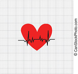 corazón, símbolo, tasa