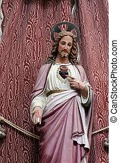 corazón, sagrado, jesús