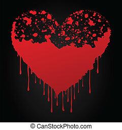 corazón, sangriento