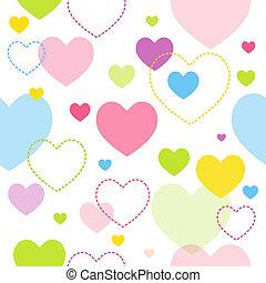 corazón, seamless, patrón