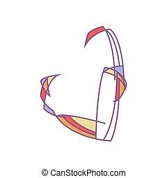 corazón, silueta, illustration., colorido, polly, pareja hugging, imitation., fondo., vector, bajo, eps10, blanco