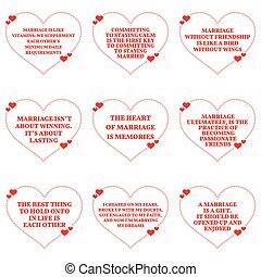 corazón, sobre, Conjunto, amor, Citas,  simple, encima, Plano de fondo, forma, Matrimonio, blanco, diseño