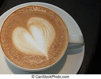 corazón, taza para café
