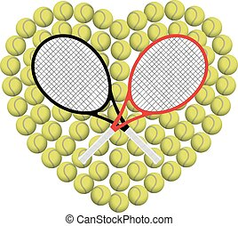 corazón, tenis