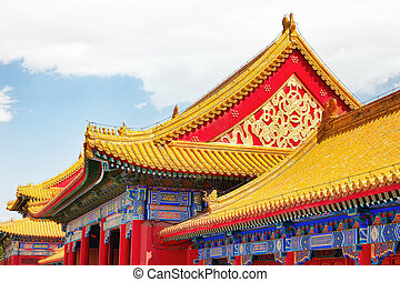 corazón, territorio, city., museo, dentro, palacios, pagodas...