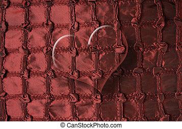 corazón, transparente, borgoña, rojo
