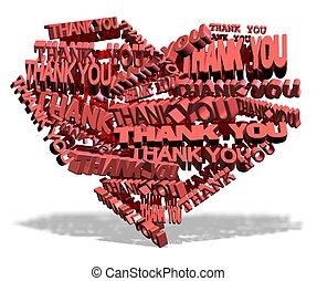 corazón, usted, agradecer