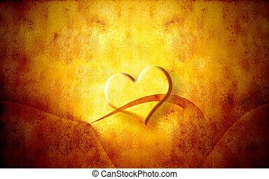 corazón, valentines, grunge, día, plano de fondo