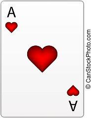 corazón, vector, as