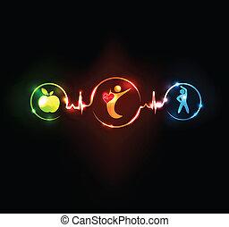corazón, wallaper, sano