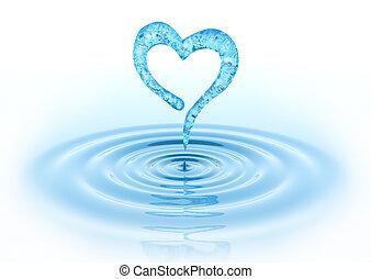 corazón, waterdrop